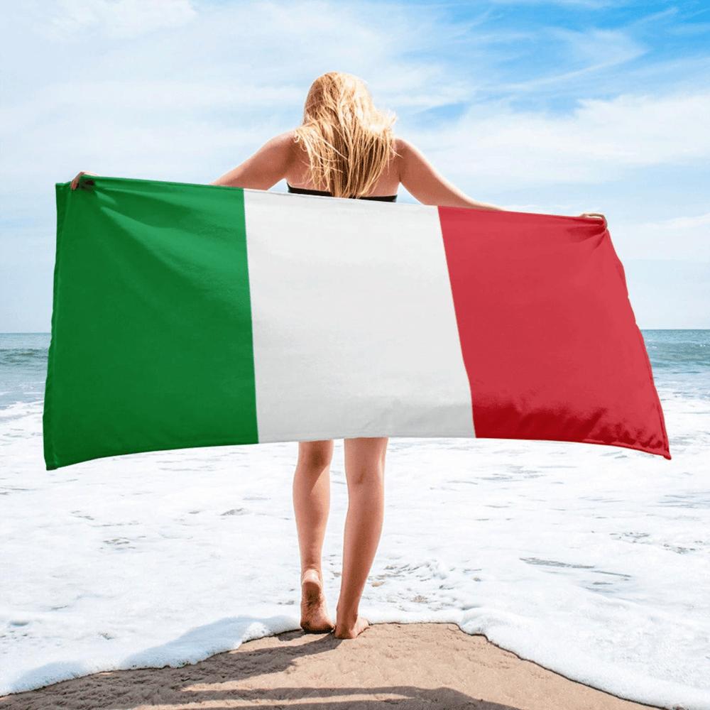 Serviette de plage en microfibre drapeaux Italie