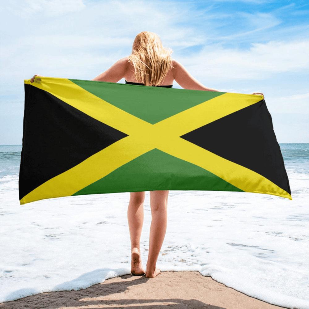 Serviette de plage en microfibre drapeaux Jamaïque