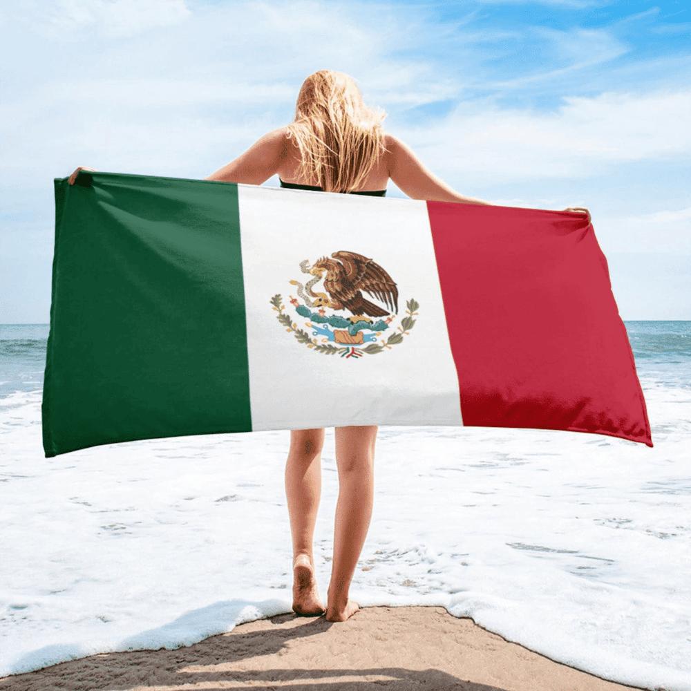 Serviette de plage en microfibre drapeaux Mexique