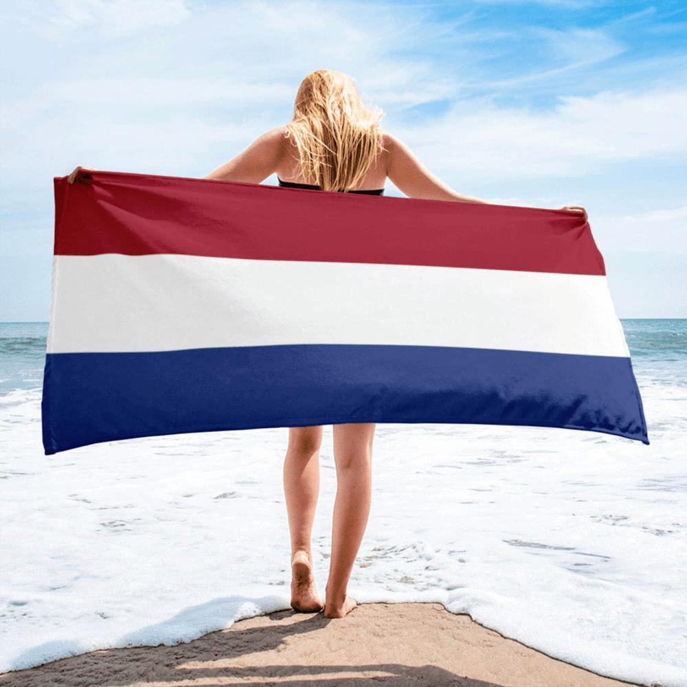 Serviette de plage en microfibre drapeaux Pays-Bas