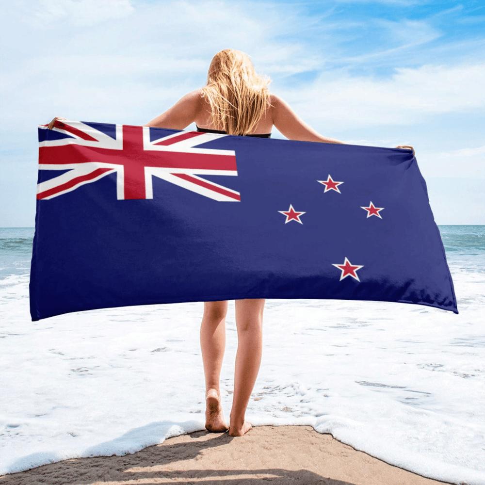 Serviette de plage en microfibre drapeaux Nouvelle Zélande