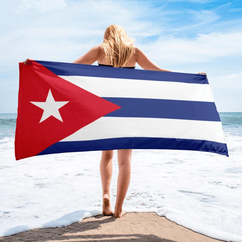 Serviette de plage en microfibre drapeaux Cuba