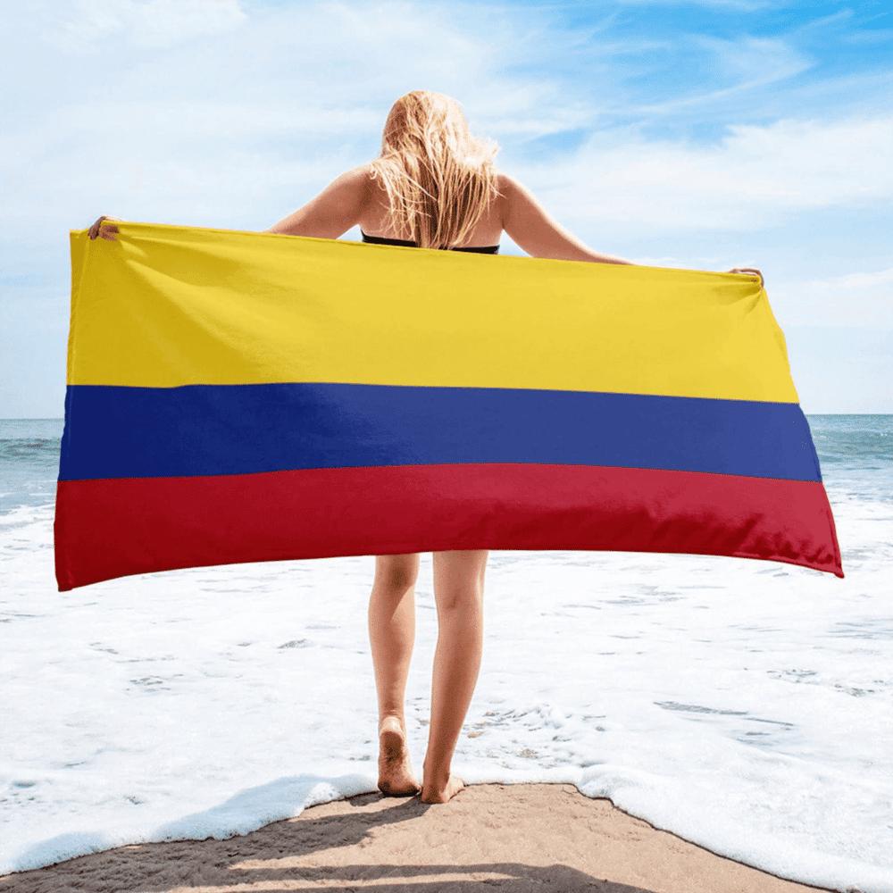 Serviette de plage en microfibre drapeaux Colombie