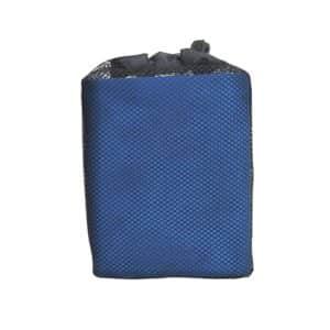 Serviette de plage en microfibre bleu