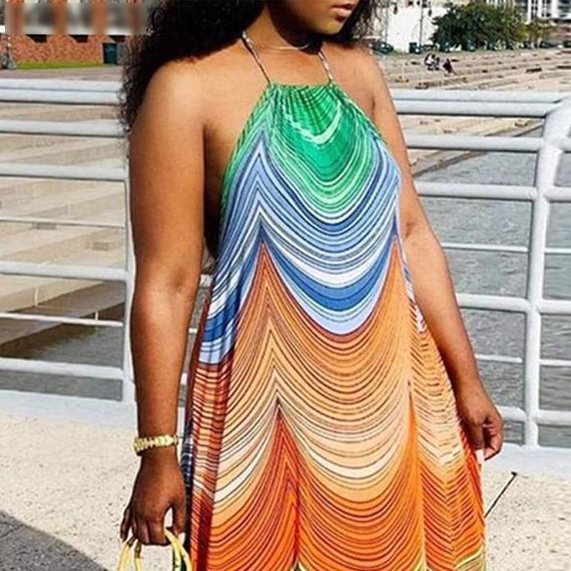 Robe paréo aux motifs africains 3