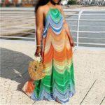Robe paréo aux motifs africains 1