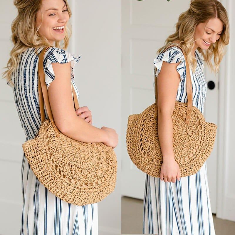 Sac rond paille - Miss Pareo - l'expert de la tendance des sacs rond.