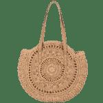 Sac Rond Paille - Miss Pare - La tendance du sac rond de plage.