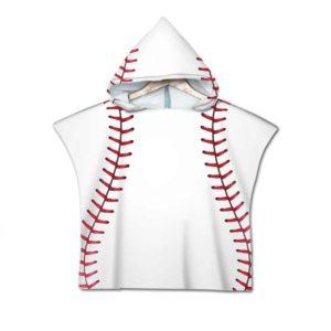 Serviette de plage pour enfant baseball balle blanche